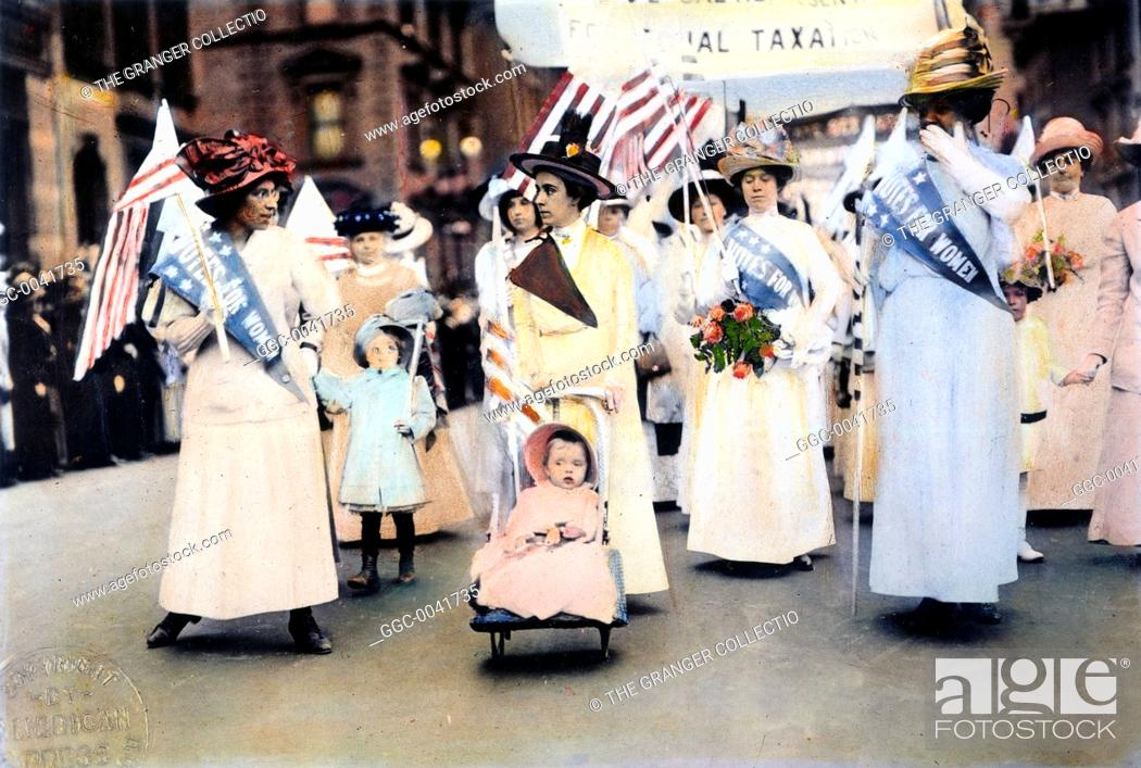 Stock Photo: WOMEN'S SUFFRAGE, 1912.An American women's suffrage parade, 1912.