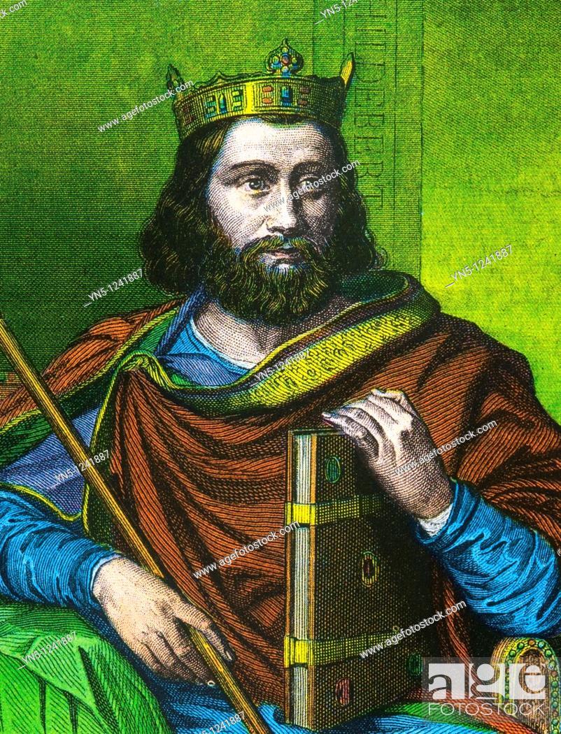 Stock Photo: CHILDEBERT I -558  King merovingian of France and son of Clovis.