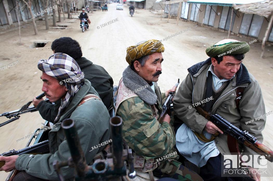 Stock Photo: Warlord militia, Kunduz provincie, afghanistan.