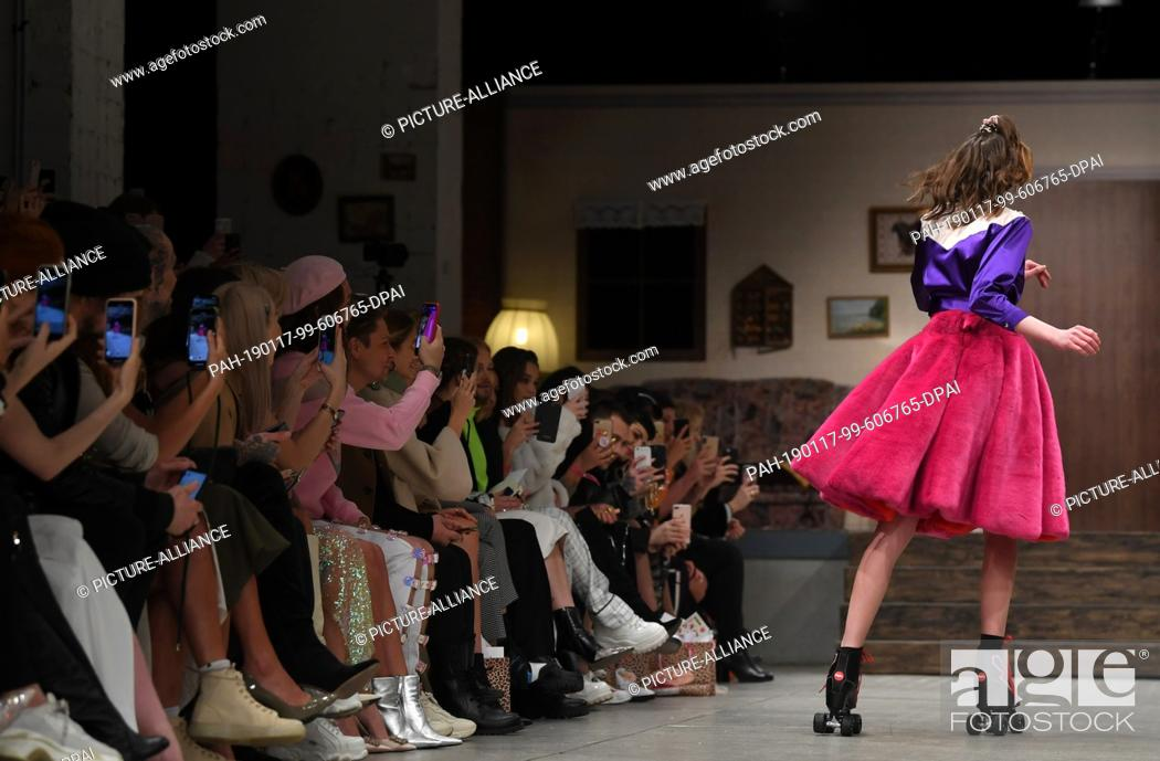 17 January 2019 Berlin A Model Presents The Fashion Of Hoermanseder In The Berlin Fashion Stock Photo Picture And Rights Managed Image Pic Pah 190117 99 606765 Dpai Agefotostock
