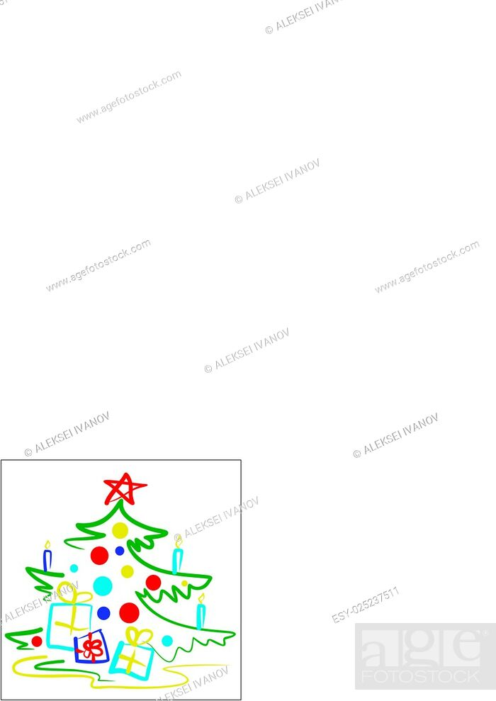 Stock Vector: A stylized illustration of a Christmas tree.