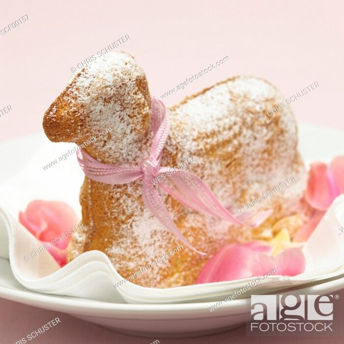 Stock Photo: Cake shaped as a lamb.