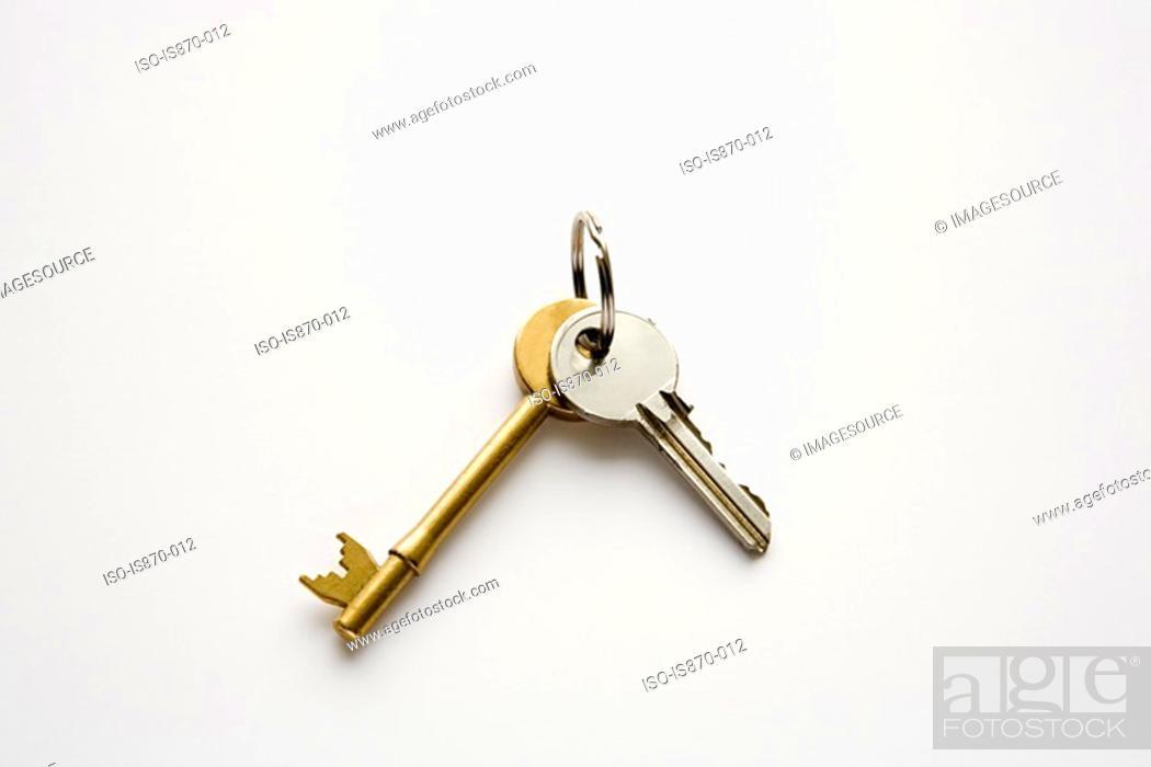 Stock Photo: House keys.