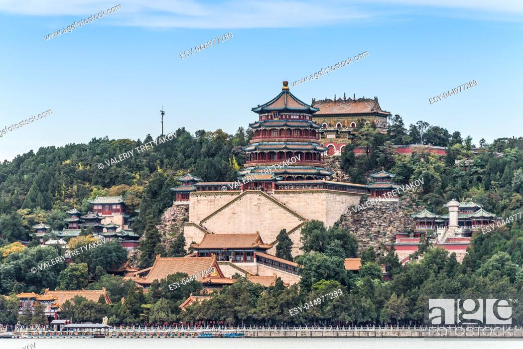 Stock Photo: Traditional Chinese Architecture: Summer Palace in Beijing.