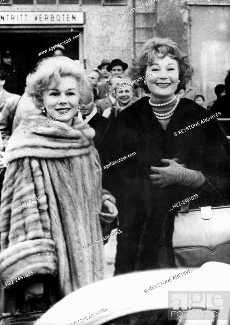 best online good selling where can i buy Eva and Magda Gabor arrive in Vienna, Austria, c1965-c1975 ...