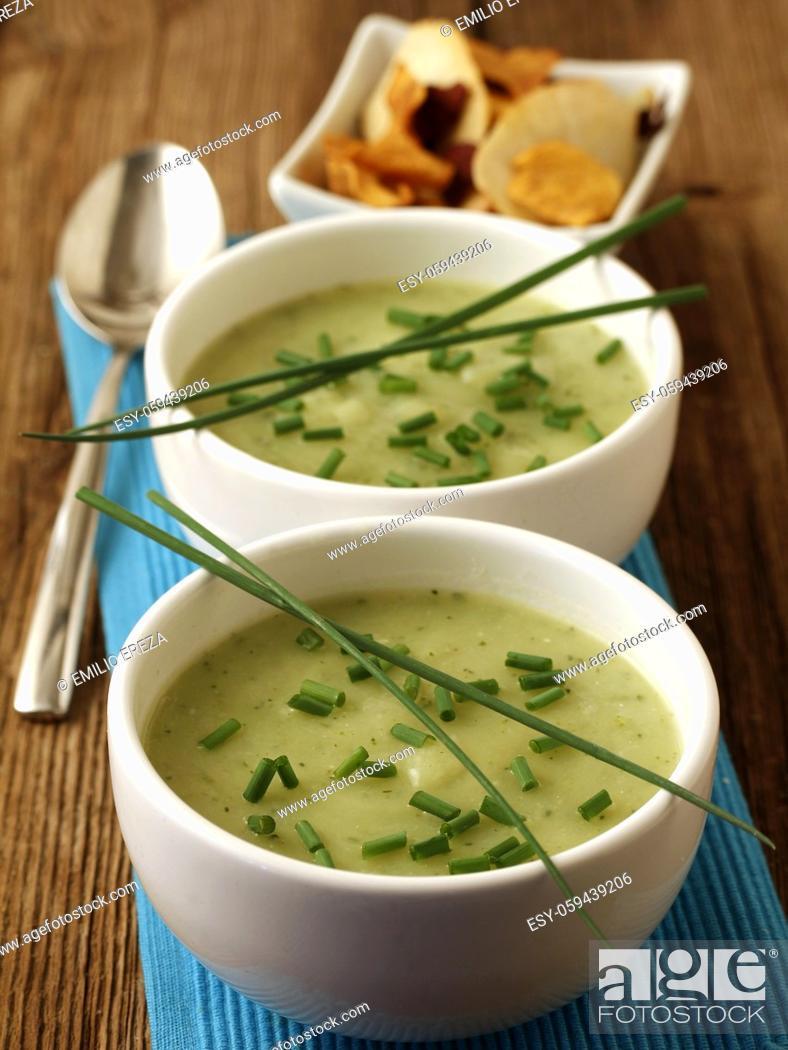 Stock Photo: Zucchini soup.