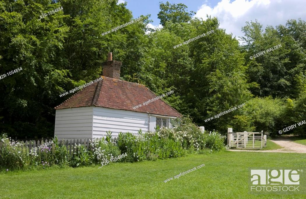 Stock Photo: Upper Beeding Toll Cottage, Weald and Downland Museum, Singleton, Sussex, England.