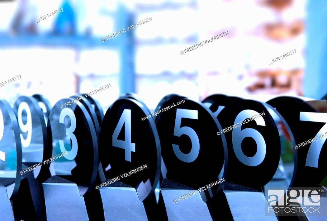 Stock Photo: Catering, numbers.