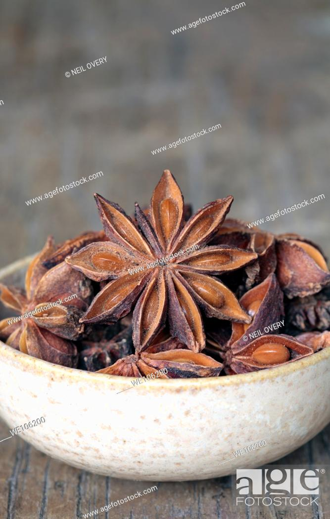 Stock Photo: Star Anise in Bowl.