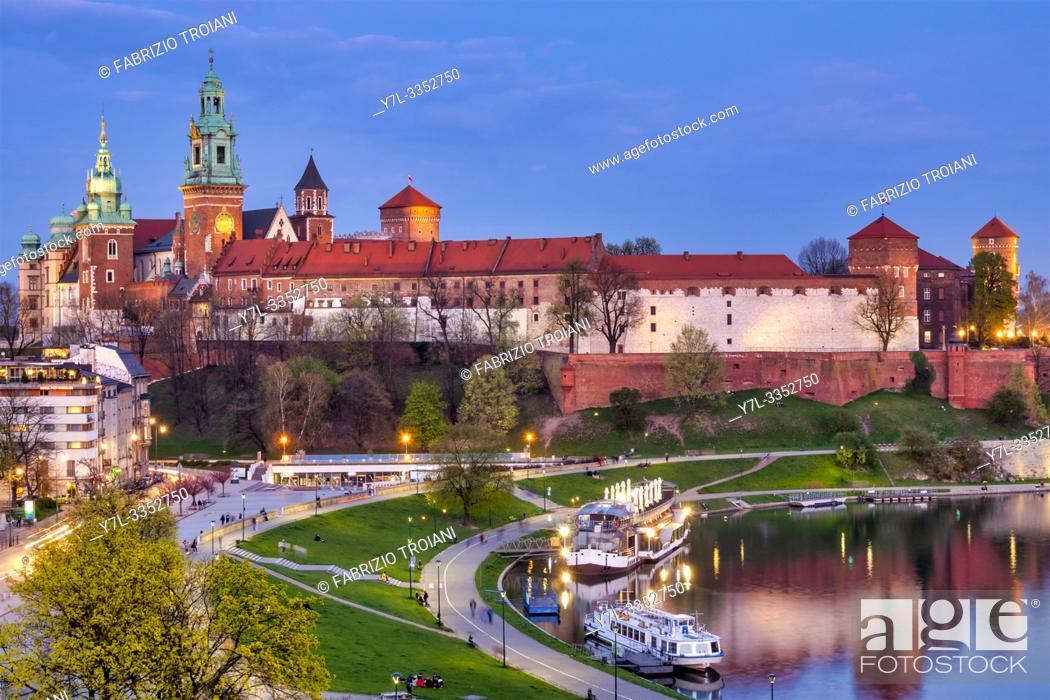 Stock Photo: Wavel Castle, Krakow, Poland.