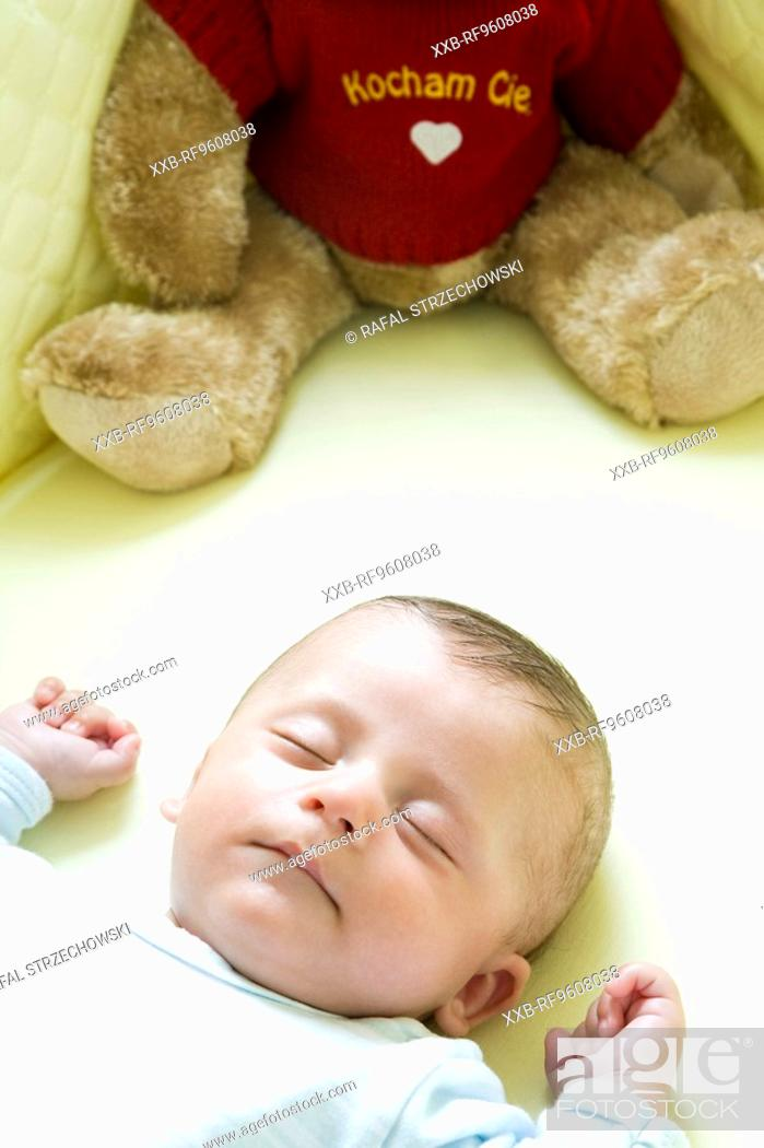 Stock Photo: Sleeping baby.