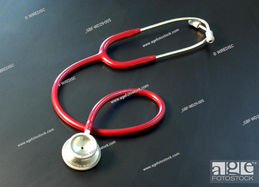Stock Photo: Medicine, stethoscope.