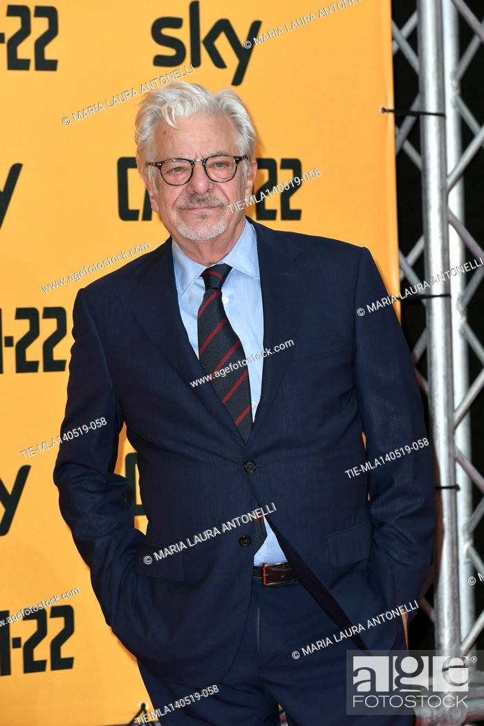 Stock Photo: Giancarlo Giannini during the Red carpet for the Premiere of film tv Catch-22, Rome, ITALY-13-05-2019.