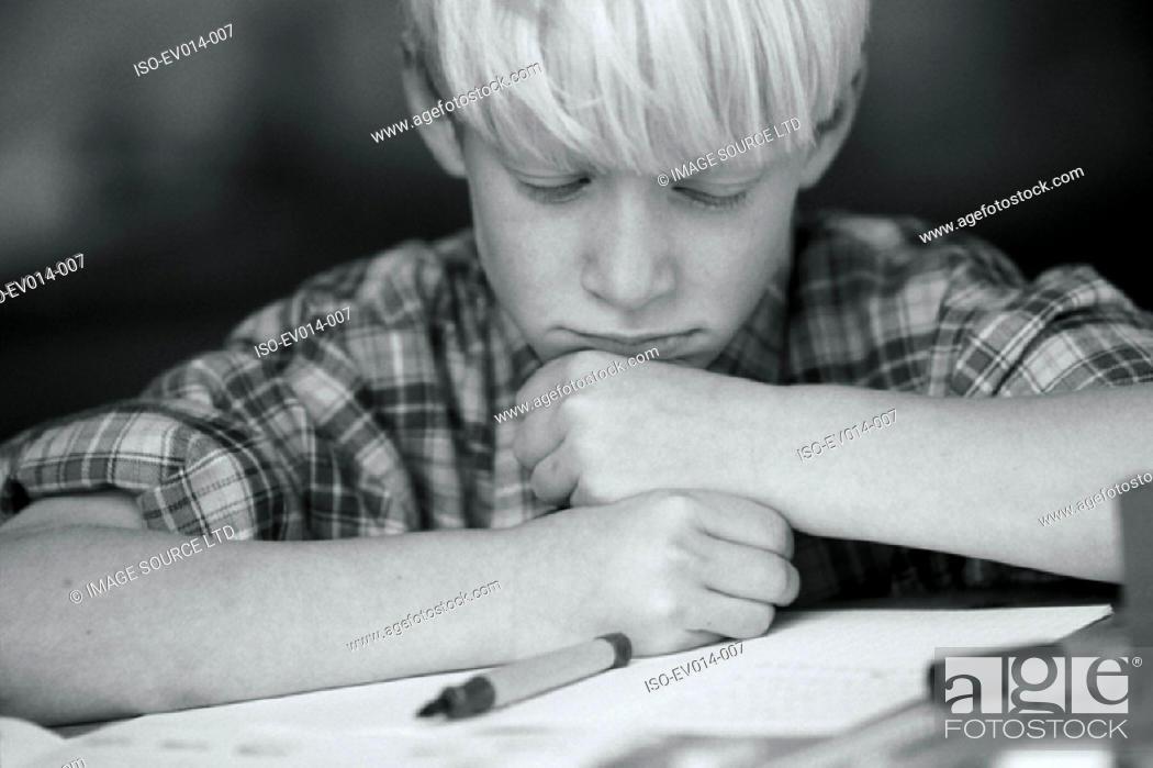 Stock Photo: Homework.