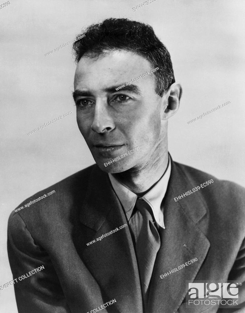 Stock Photo: Robert Oppenheimer, atomic physicist and head the Manhattan project's secret weapons laboratory. Ca. 1940-45 - (BSLOC-2015-1-88).
