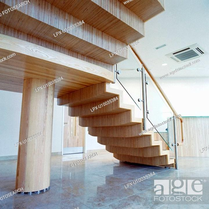 Stock Photo: Wooden staircase.