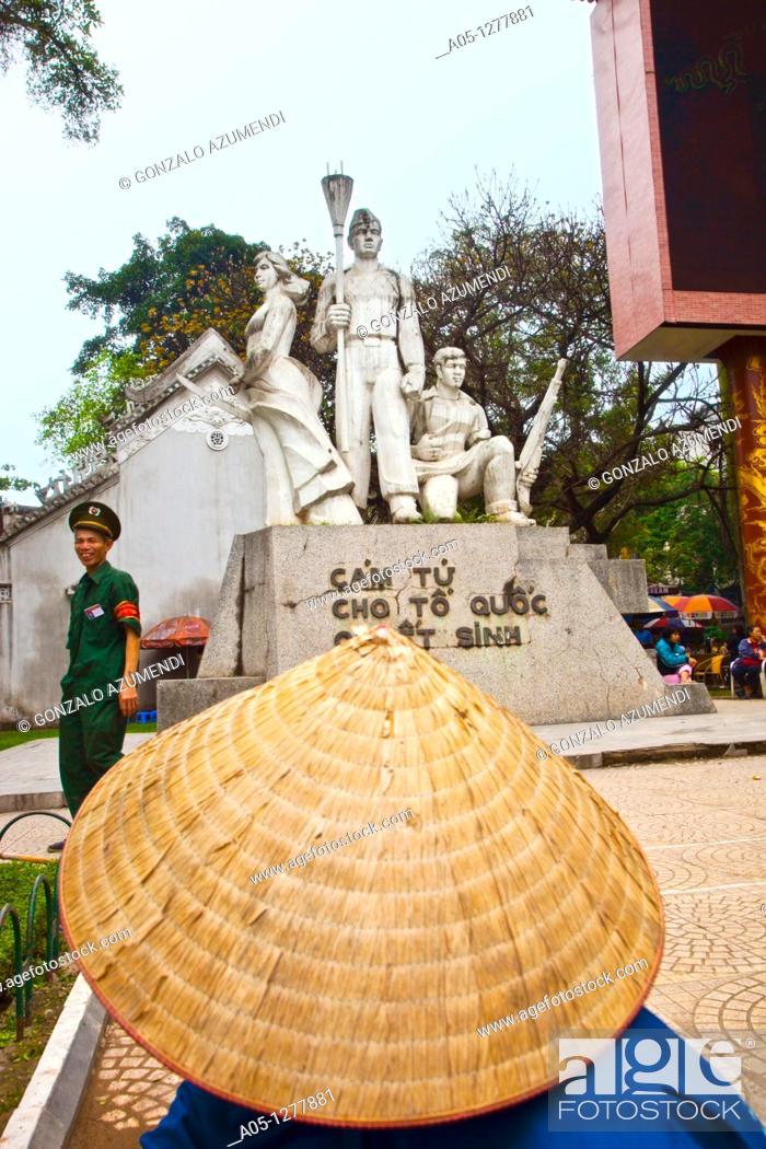 Stock Photo: Monument for the workers by comunist regimen  Hanoi  Vietnam.