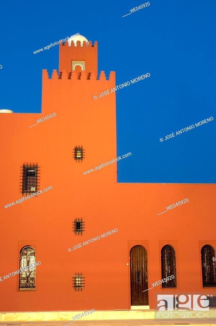 Stock Photo: Bil-Bil castle built in neo-Arab style in 1934, Benalmádena. Costa del Sol, Málaga province. Andalusia, Spain.