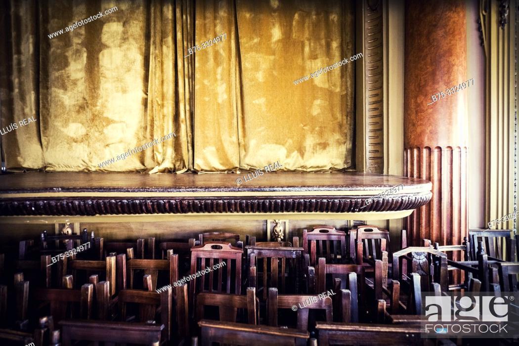 Stock Photo: Theatre of Casa do Alentejo. Lisbon, Europe.