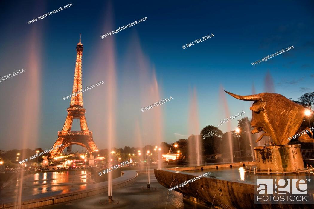Stock Photo: The Eiffel Tower in Paris.