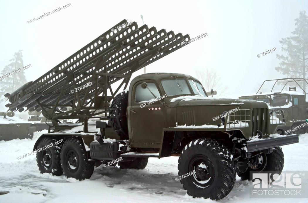 Army katyusha rocket Stock Photos and Images   age fotostock