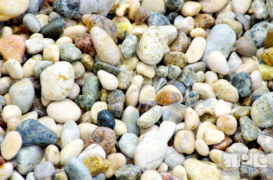 Stock Photo: pebble stones.