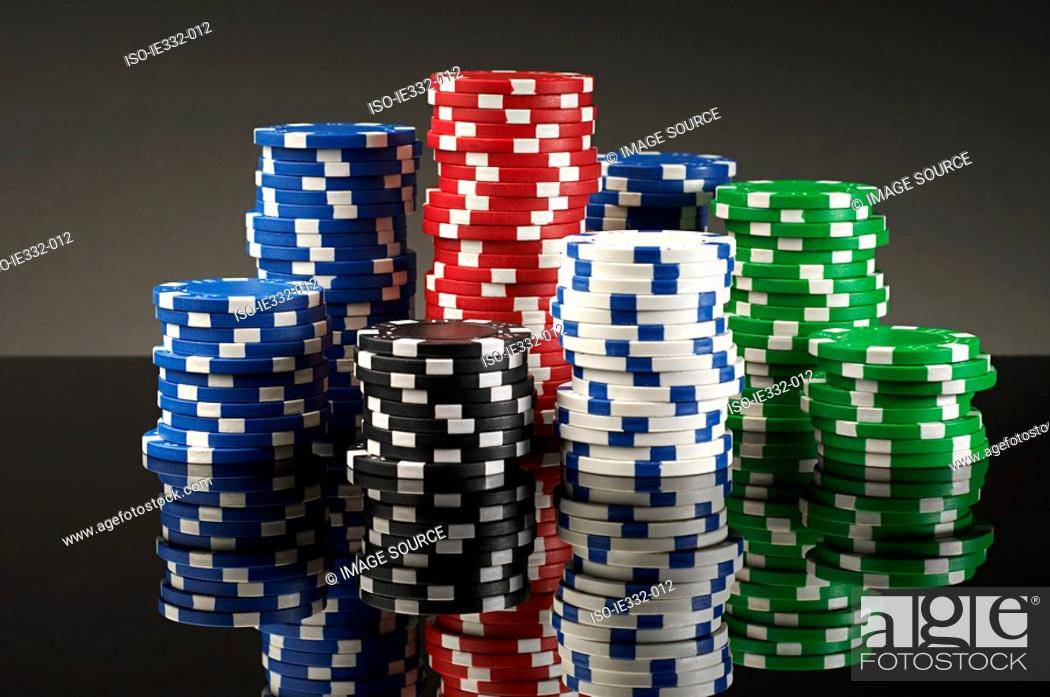 Stock Photo: Stacks of gambling chips.