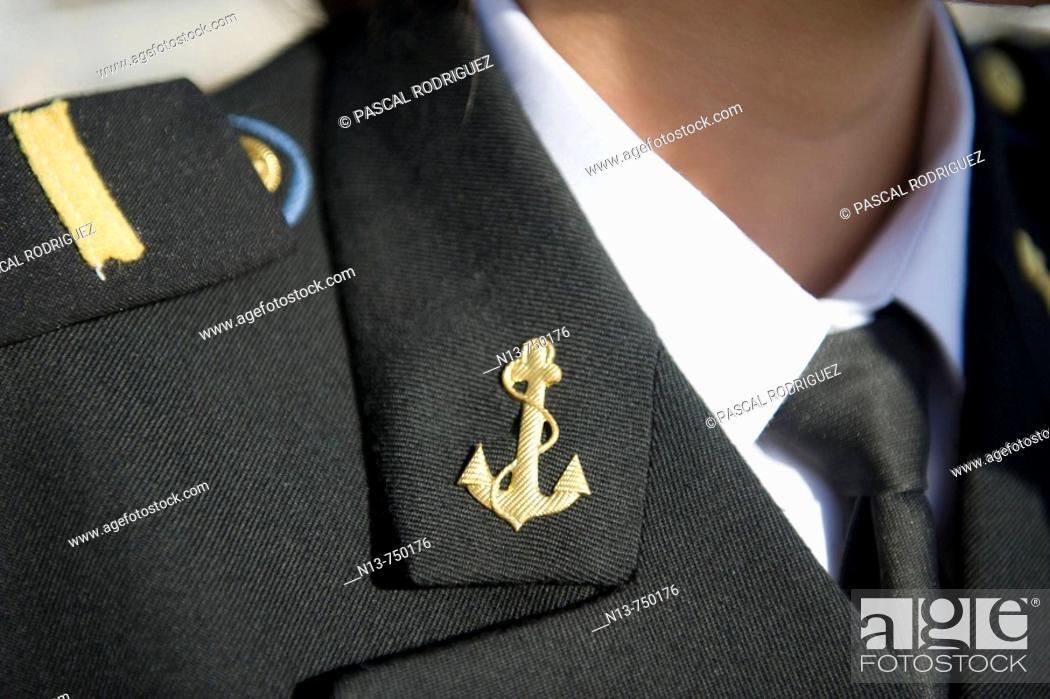 Stock Photo: Suit of the Romanian Navy, International Maritime Festival, Brest, Finistere, Bretagne, France (11- 17 July 2008).