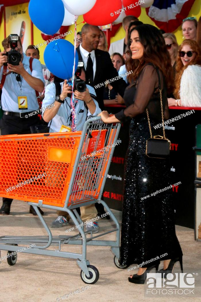 """Stock Photo: """"""""""""Sausage Party"""""""" Premiere at the Village Theater on August 9, 2016 in Westwood, CA Featuring: Salma Hayek Where: Westwood, California."""