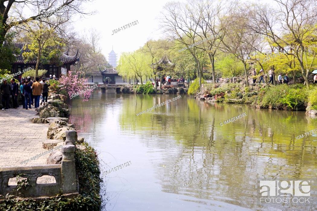 Stock Photo: China, Jiangsu Province, Suzhou, The Humble Administrator's Garden.