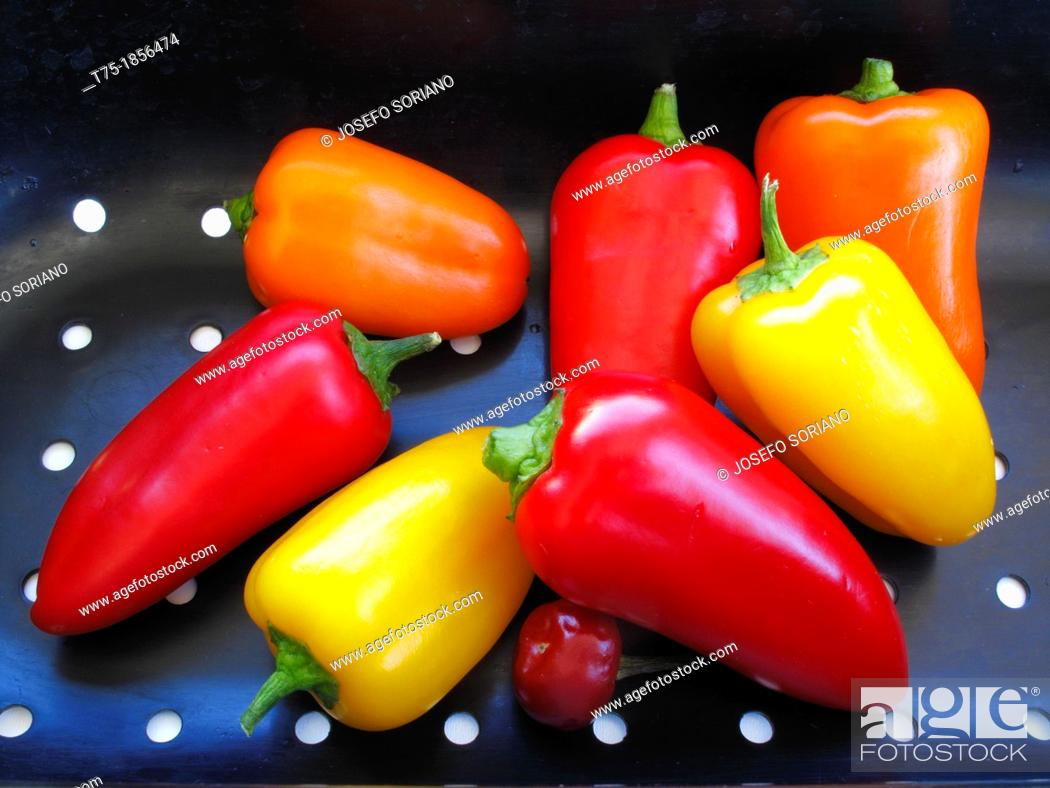 Stock Photo: Sweet peppers.