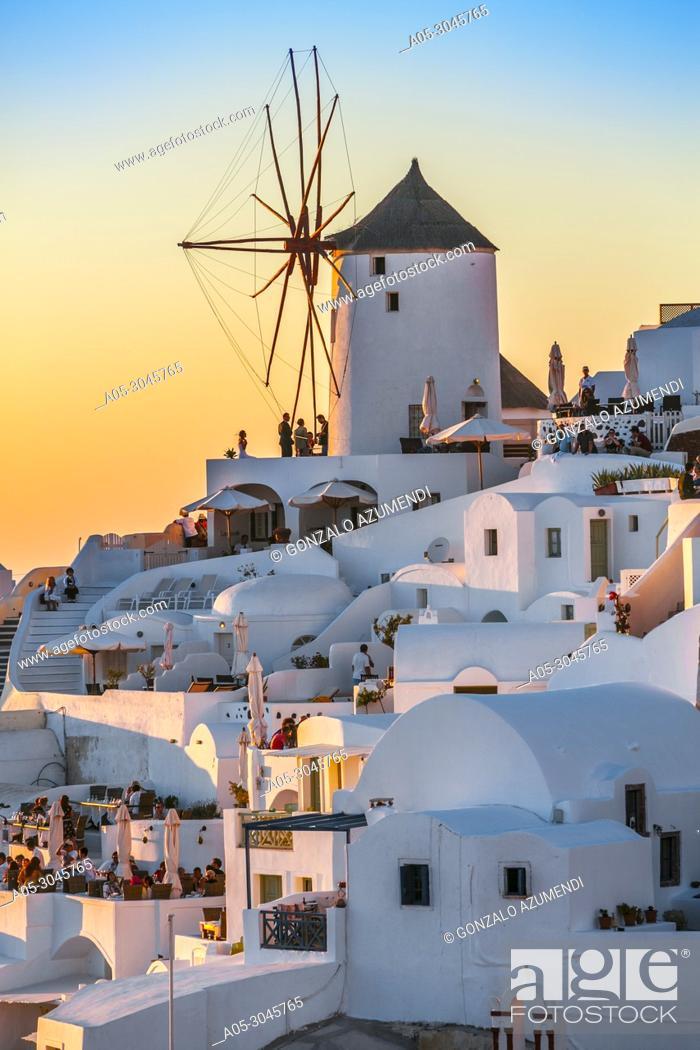 Stock Photo: Oia. Ia. Santorini Island. Ciclades Islands. Greece.