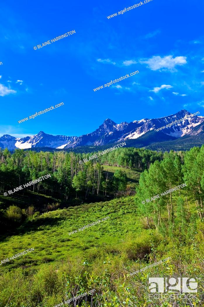 Stock Photo: The Dallas Divide Sneffels Range in back, near RIdgway, Colorado USA.
