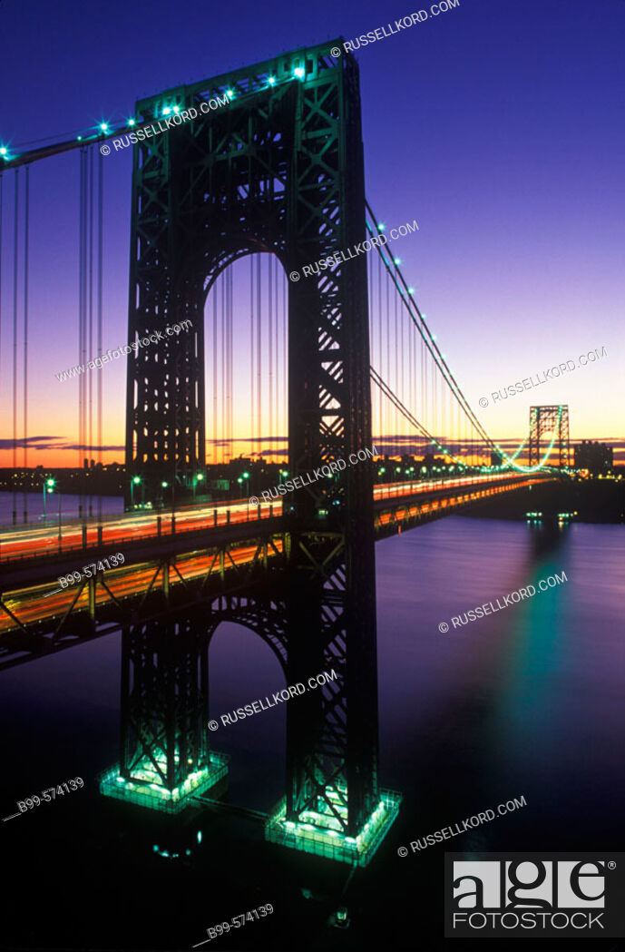 Stock Photo: George Washington Bridge, Manhattan, New York, USA.
