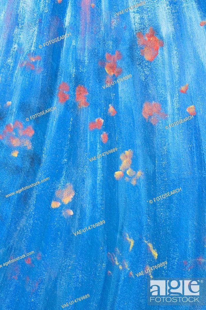 Stock Photo: Blue, Close-Up, Full Frame, Indoors.