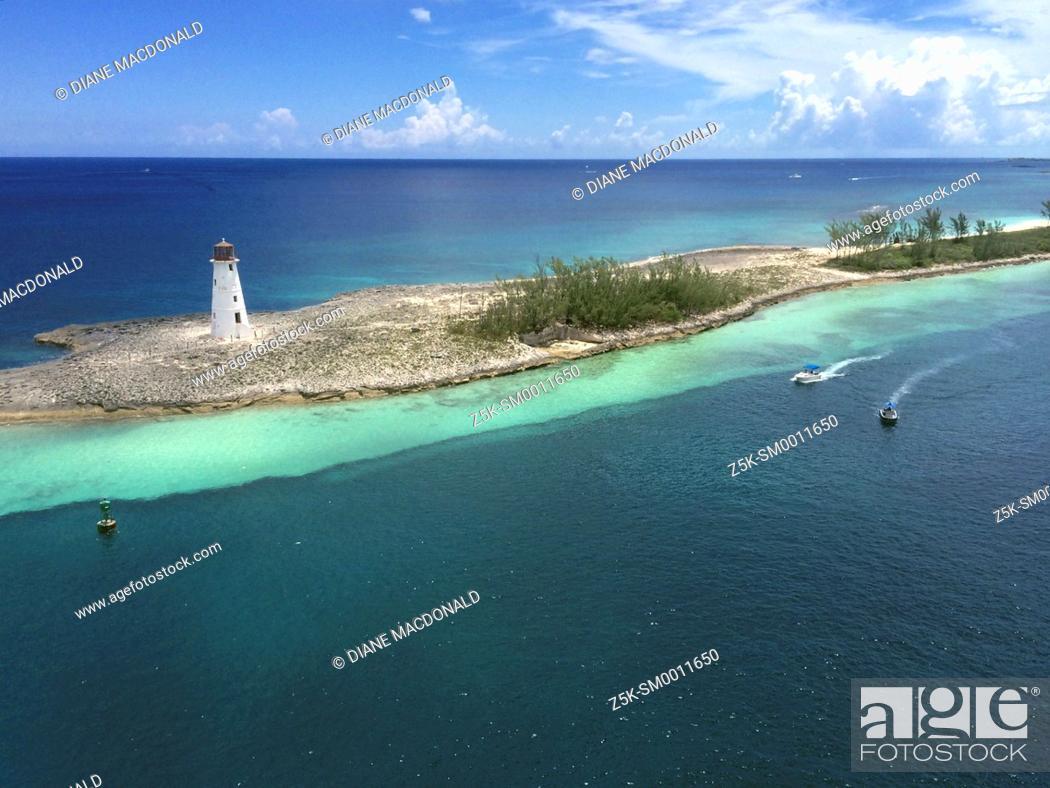 Stock Photo: Paradise Island Lighthouse, Nassau, Bahamas.
