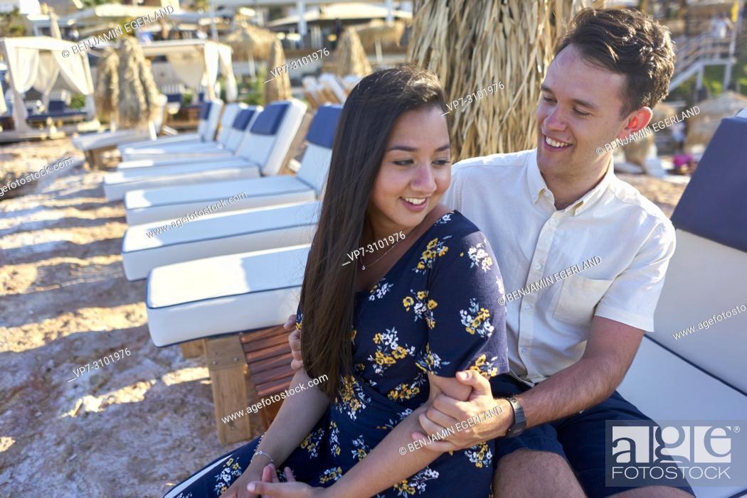 Stock Photo: Greece, Crete, Hersonissos, couple.