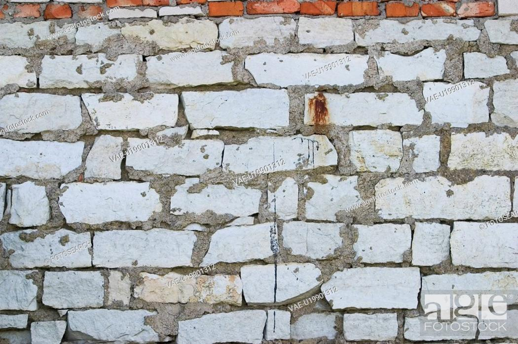 Stock Photo: Brick, Structure, Wall, Cement, Erect, Partition.