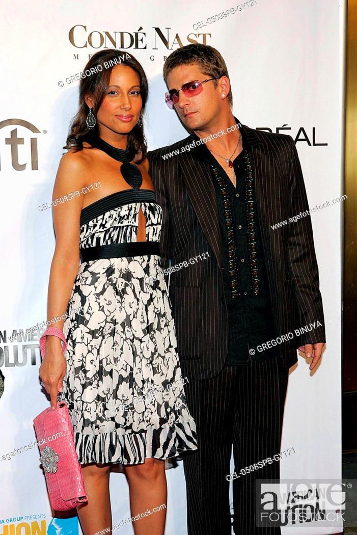 Stock Photo: Rob Thomas, Marisol Thomas at arrivals for Conde Nast Fashion Rocks Concert, Radio City Music Hall, New York, NY, September 08, 2005.