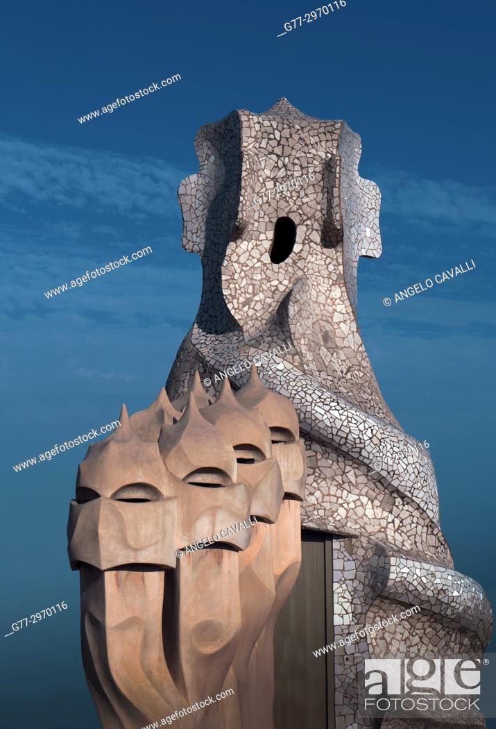 Photo de stock: Casa Milà, Barcelona, Spain.