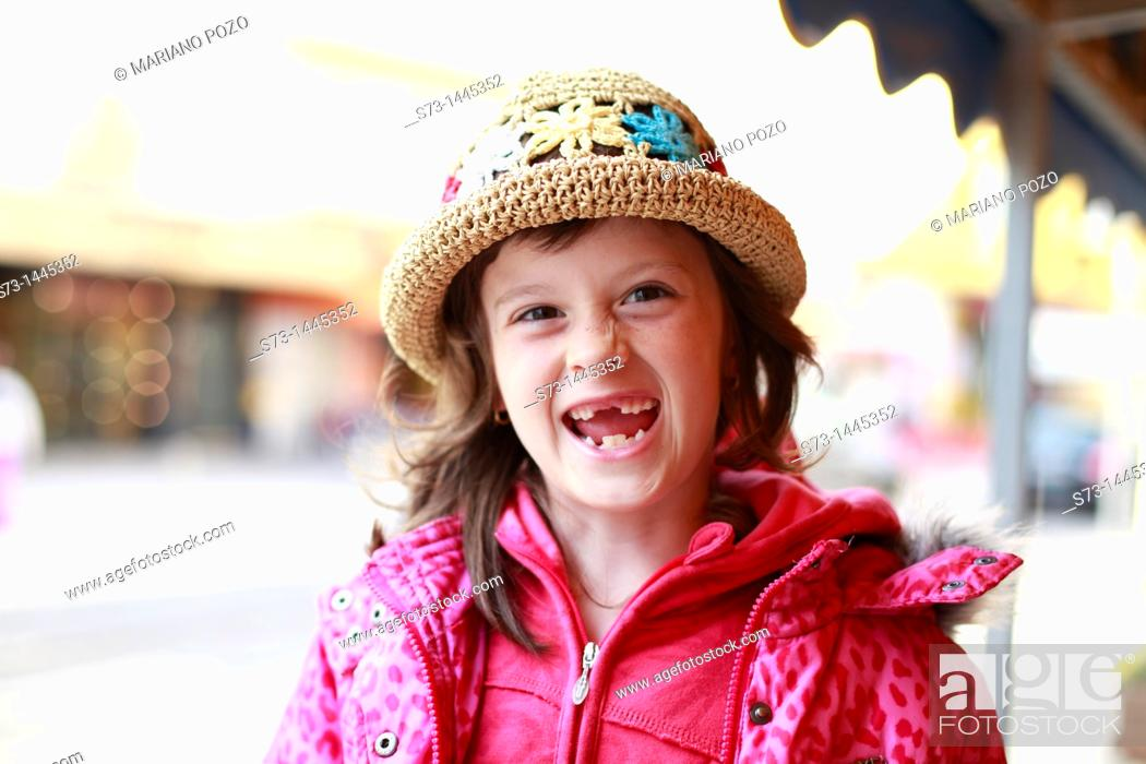 Stock Photo: Girl with expression.