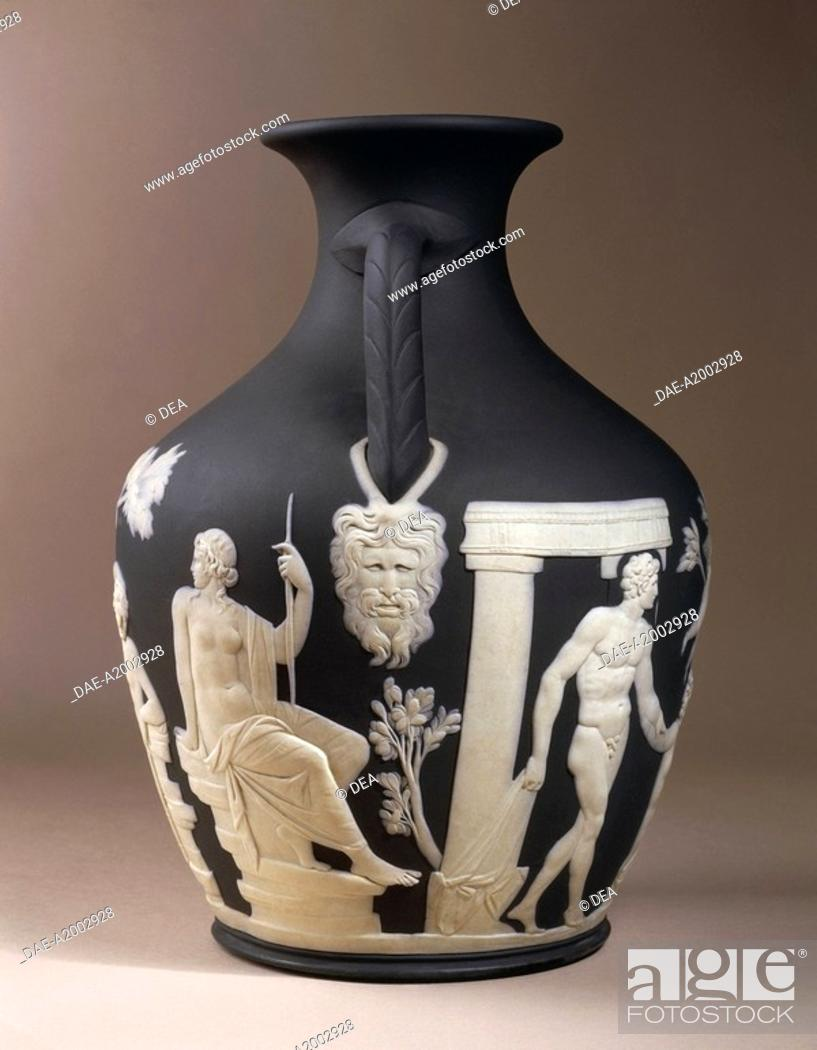 Ceramics England 19th Century Wedgwood Vase 1875 Allegorized