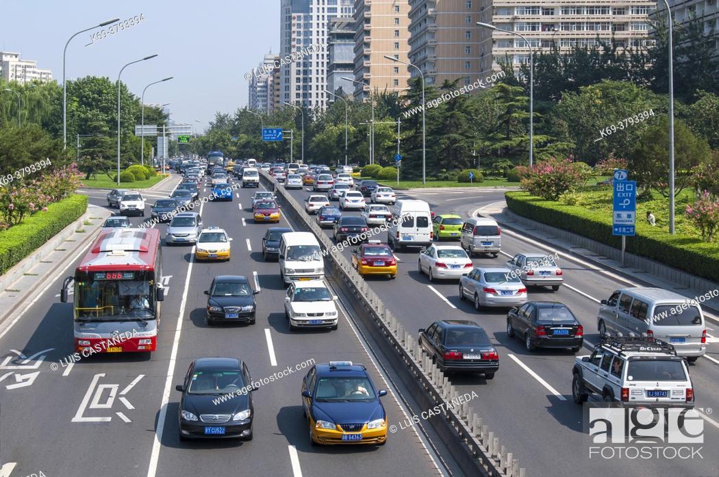 Stock Photo: Beijing Traffic. Beijing. China.
