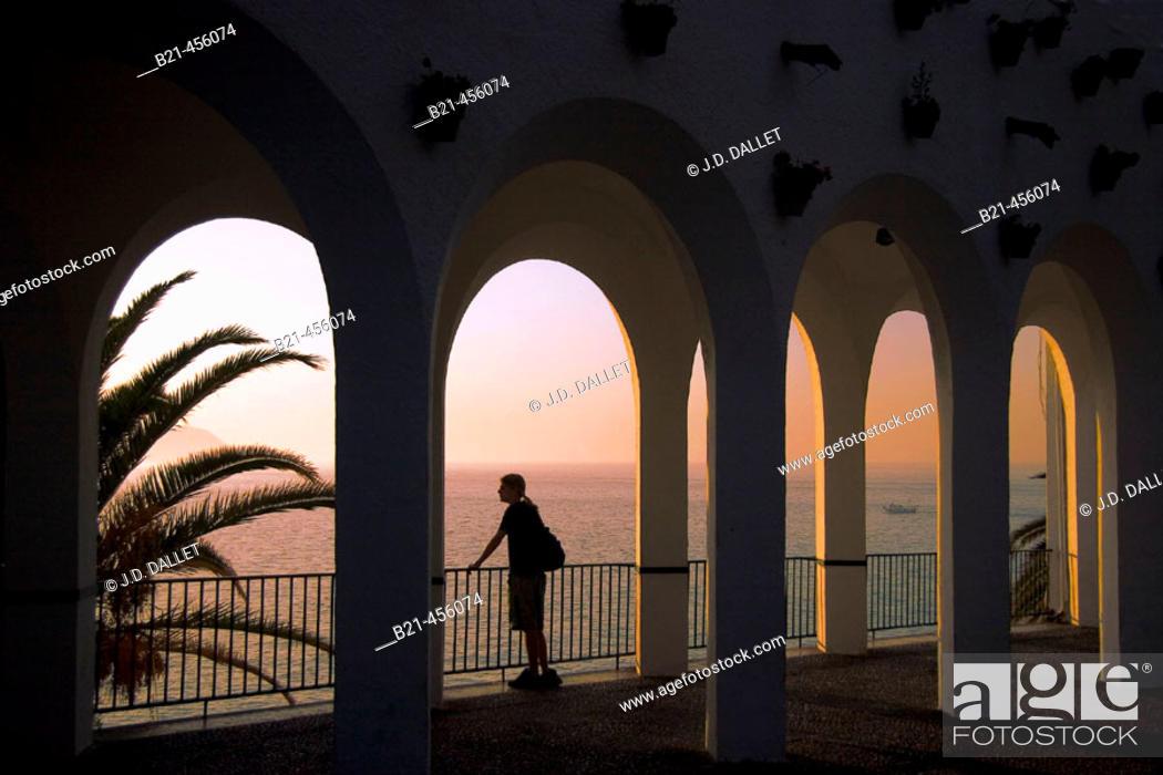 Stock Photo: 'Balcón de Europa' at Nerja. Málaga province. Andalucia. Spain.