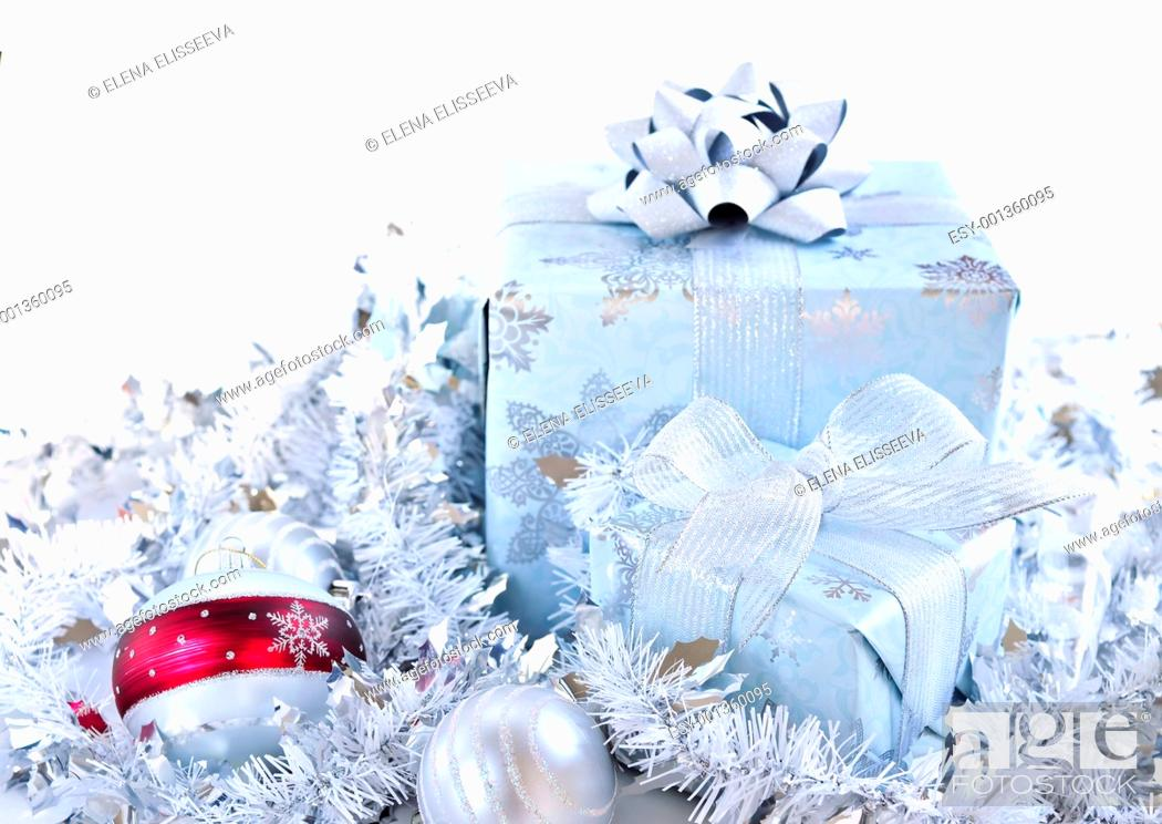Stock Photo: Christmas gift boxes.