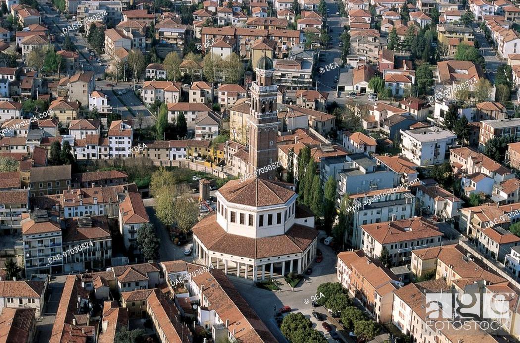 Stock Photo: Italy - Veneto Region - Rovigo - The octagonal Church of the Blessed Virgin of Mercy called Rotonda (16th century).