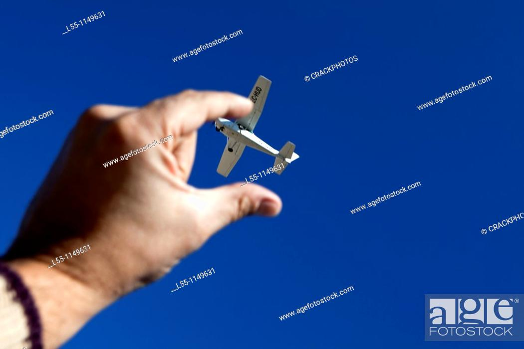 Stock Photo: Catching a plane.