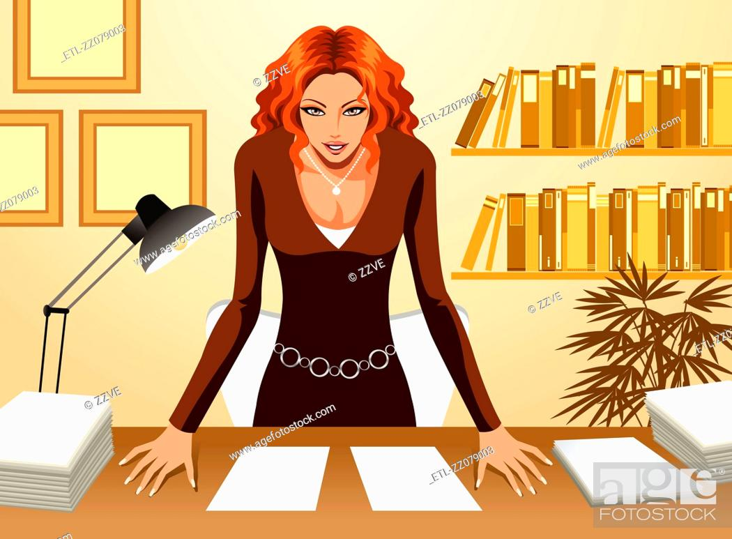 Stock Photo: Front view of Business Woman.