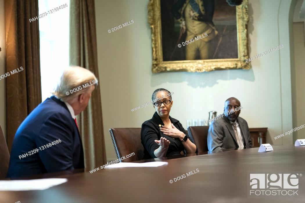 Stock Photo: State Representative Karen Whitsett of Michigan, talks about her bout with the Coronavirus as United States President Donald J.