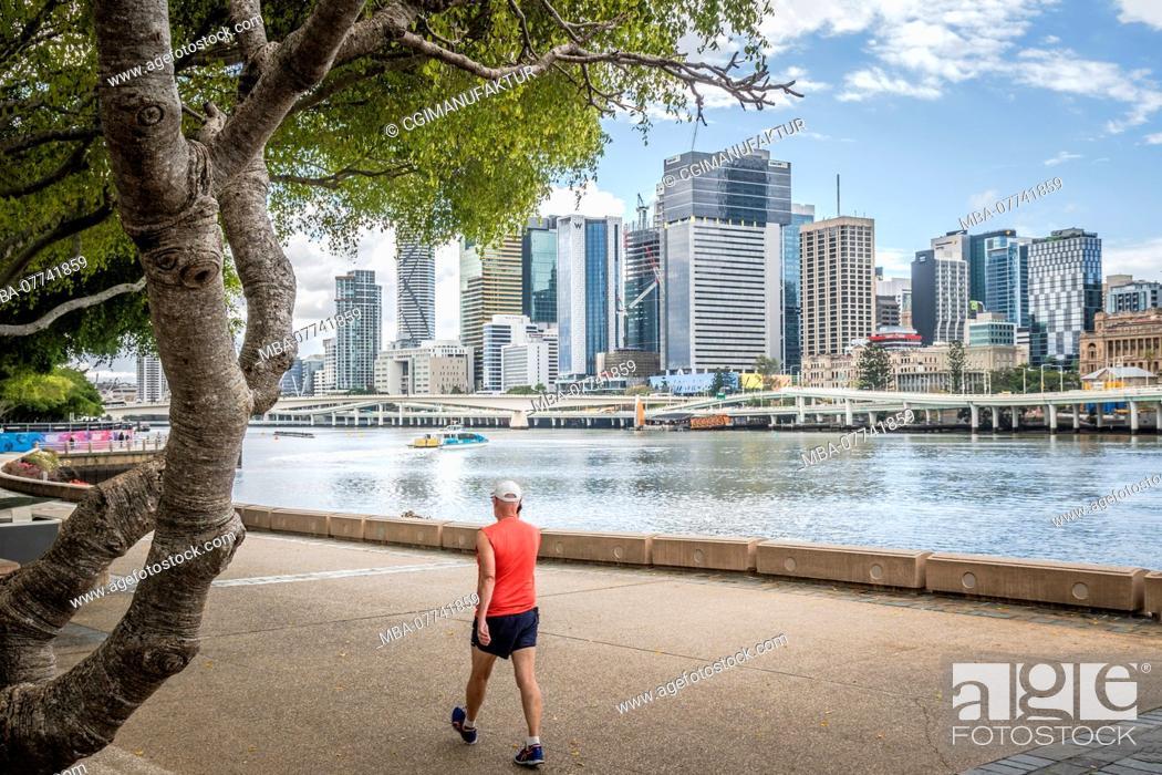 Stock Photo: Brisbane, wanderer.
